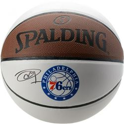 Joel Embiid Signed Philadelphia 76ers Logo Basketball (Fanatics Hologram)