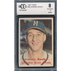 1957 Topps #90 Warren Spahn (BCCG 8)