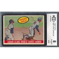 1959 Topps #467 Hank Aaron (BCCG 8)