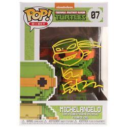 "Kevin Eastman Signed Teenage Mutant Ninja Turtles ""Michelangelo"" #07 8-Bit Funko POP! Vinyl Figure w"