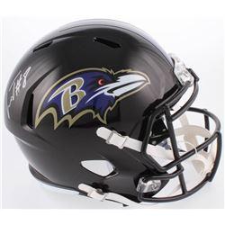 Lamar Jackson Signed Baltimore Ravens Full-Size Speed Helmet (Schwartz Sports COA)