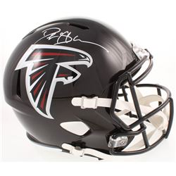 Deion Sanders Signed Atlanta Falcons Full-Size Speed Helmet (Beckett COA)
