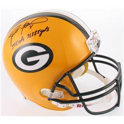 """Brett Favre Signed Green Bay Packers Full-Size Helmet Inscribed """"508 TDs""""  """"71,838 Yds"""" (Favre COA)"""
