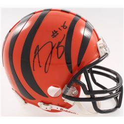 A.J. Green Signed Cincinnati Bengals Mini-Helmet (JSA COA)