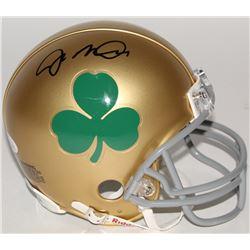 Joe Montana Signed Notre Dame Fighting Irish Shamrock Mini-Helmet (JSA COA)