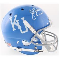 John Riggins Signed Kansas Jayhawks Full-Size Throwback Helmet (JSA Hologram)