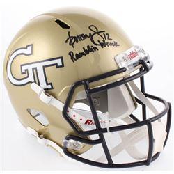 "Dorsey Levens Signed Georgia Tech Yellow Jackets Full-Size Speed Helmet Inscribed ""Ramblin Wreck"" (R"