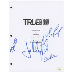 """True Blood"" Script Cover Signed by (4) with Joe Manganiello, Sam Trammell, Nelsan Ellis  Carrie Pre"