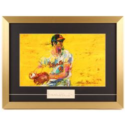 "Brooks Robinson Signed ""LeRoy Neiman"" 16x21 Custom Framed Cut Display (PSA COA)"