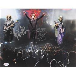 "Ozzy Osbourne  Geezer Butler Signed ""Black Sabbath"" 11x14 Photo (PSA COA)"