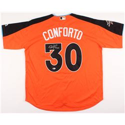 """Michael Conforto Signed 2017 All-Star Game Jersey Inscribed """"1st ASG"""" (Beckett COA)"""