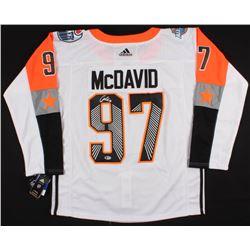 Connor McDavid Signed Edmonton Oilers 2017 NHL All-Stars Captains Jersey (Beckett COA)