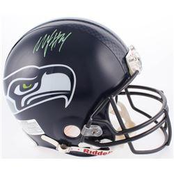 Marshawn Lynch Signed Seattle Seahawks Full-Size Authentic On-Field Helmet with Super Bowl XLVIII De