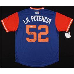 "Yoenis Cespedes Signed ""La Potencia"" New York Mets Jersey Inscribed ""La Potencia"" (JSA COA)"
