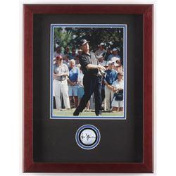 Jack Nicklaus Signed 14x18x2.5 Custom Framed Golf Ball Shadowbox Display (JSA LOA)