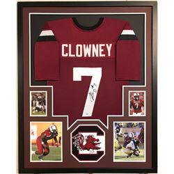 Jadeveon Clowney Signed South Carolina Game Cocks 34x42 Custom Framed Jersey (PSA COA)