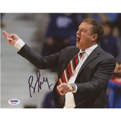 Bill Self Signed University of Kansas 8x10 Photo (PSA COA)