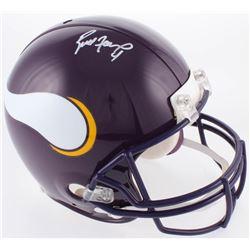 Brett Favre Signed Minnesota Vikings Full-Size Authentic On-Field Throwback Helmet (Favre COA)