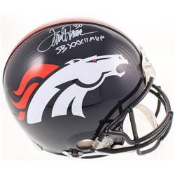 "Terrell Davis Signed Denver Broncos Full-Size Authentic On-Field Helmet Inscribed ""SB XXXII MVP"" (Ra"