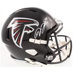 Deion Jones Signed Atlanta Falcons Full-Size Speed Helmet (Radtke COA)