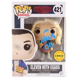"""Millie Bobby Brown Signed Limited Chase Edition """"Stranger Things"""" Eleven with Eggos #421 Funko Pop!"""