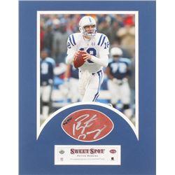 Peyton Manning Signed Indianapols Colts 11x14 Custom Framed Leather Football Cut (UDA COA)