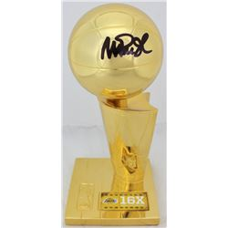 Magic Johnson Signed Replica Larry O'Brien Championship Trophy (Beckett COA)