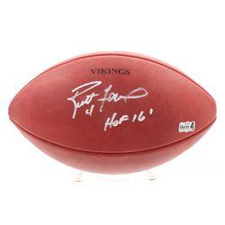 """Brett Favre Signed """"The Duke"""" Official NFL Game Ball With Vikings Stamp Inscribed """"HOF 16"""" (Radtke C"""