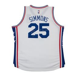 "Ben Simmons Signed Philadelphia 76ers Jersey Inscribed ""#1 Pick 2016"" (UDA COA)"