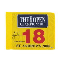 Tiger Woods Signed 2000 British Open Pin Flag (UDA COA)