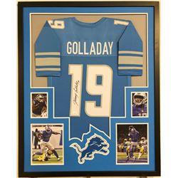 Kenny Golladay Signed Detroit Lions 34x42 Custom Framed Jersey (JSA COA)