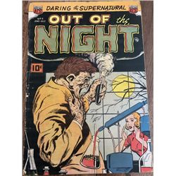 """1952 """"Out of the Night"""" Issue #3 ACG Comic Book"""