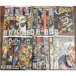 """Lot of (39) 1987 """"Silver Surfer"""" 2nd Series Marvel Comic Books with #85-145  1997 Annual #1-6"""