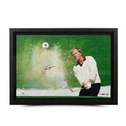 "Jack Nicklaus Signed ""Sand Trap"" 18x28 Custom Framed Limited Edition Photo Display (UDA COA)"