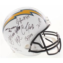 San Diego Chargers Full-Size Helmet Team-Signed by (27) with Philip Rivers, Austin Ekeler, Virgil Gr