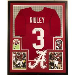 Calvin Ridley Signed Alabama Crimson Tide 34x42 Custom Framed Jersey (Beckett COA)