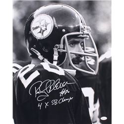 "Rocky Bleier Signed Pittsburgh Steelers 16x20 Photo Inscribed ""4x SB Champ"" (JSA COA)"