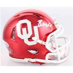 Baker Mayfield Signed Oklahoma Sooners Chrome Speed Mini-Helmet (Beckett COA)