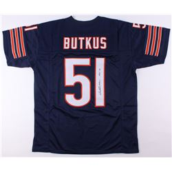 "Dick Butkus Signed Chicago Bears Jersey Inscribed ""HOF 79"" (JSA COA)"