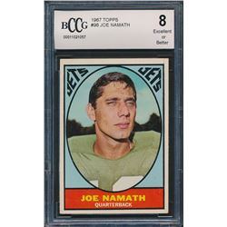 1967 Topps #98 Joe Namath (BCCG 8)