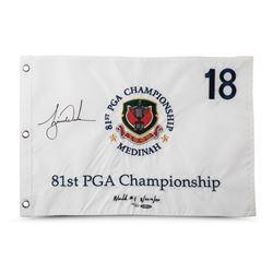 Tiger Woods Signed Limited Edition 1999 PGA Championship Pin Flag (UDA COA)