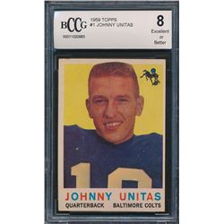 1959 Topps #1 Johnny Unitas (BCCG 8)