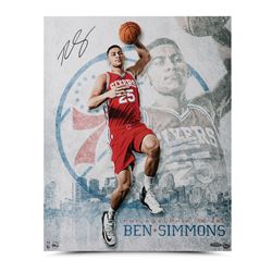 "Ben Simmons Signed Philadelphia 76ers ""All Systems Go"" 16x20 Photo (UDA COA)"