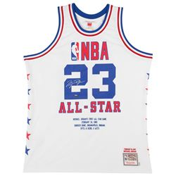 Michael Jordan Signed Limited Edition 1985 NBA All Star Game Highlight Stat Jersey (UDA COA)