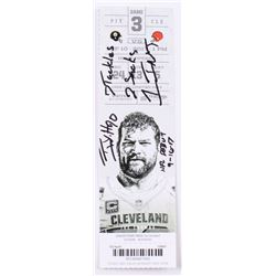 TJ Watt Signed Authentic 2017 Pittsburgh Steelers / Cleveland Brown Ticket Stub with Multiple Inscri
