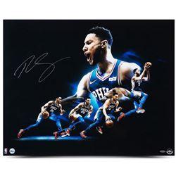 """Ben Simmons Signed Philadelphia 76ers """"Drive"""" 24x30 Photo (UDA COA)"""