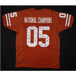 2005 Texas Longhorns National Champions Jersey Team-Signed by (20) with Lyle Sendlein, Kasey Studdar
