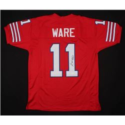 """Andre Ware Signed Houston Cougars Jersey Inscribed """"89 Heisman"""" (JSA COA)"""