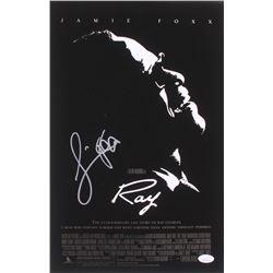 """Jamie Foxx Signed """"Ray"""" 11x17 Movie Poster Photo (JSA COA)"""