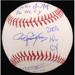 "Mike Scott, Dallas Keuchel  Roger Clemens Signed LE OML Baseball Inscribed ""86 NL CY"", ""2004 NL CY"""